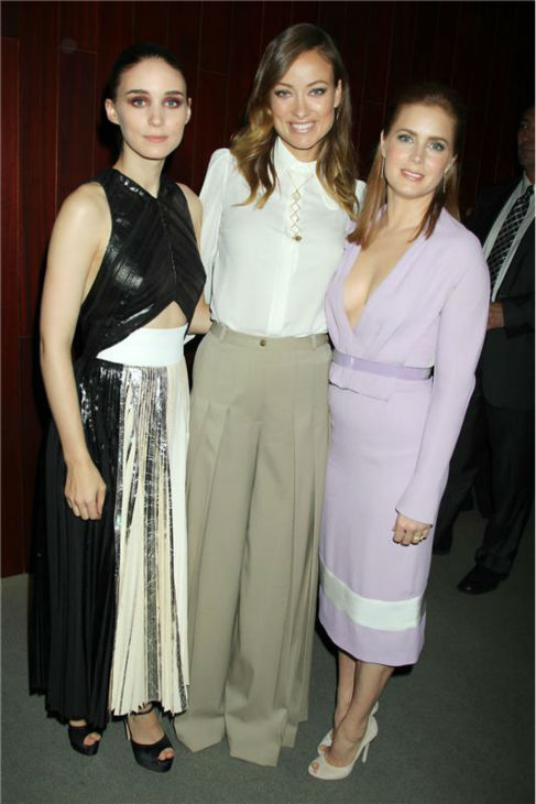 Rooney Mara, Olivia Wilde and Amy Adams attend the closing night gala presentation of &#39;Her. A Spike Jonze Love Story&#39; at the 2013 New York Film Festival on Oct. 12, 2013. <span class=meta>(Dave Allocca &#47; Startraksphoto.com)</span>