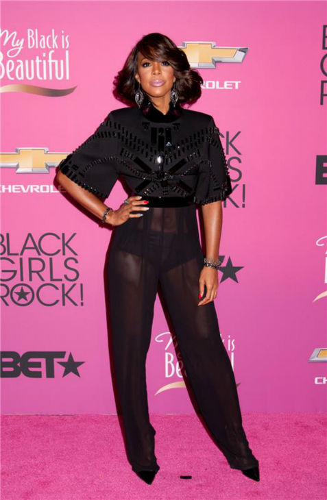 Kelly Rowland of Destiny's Child and 'The X Factor' fame appears at BET's 2013 Black Girls Rock event in New York on Oct. 26, 2013.