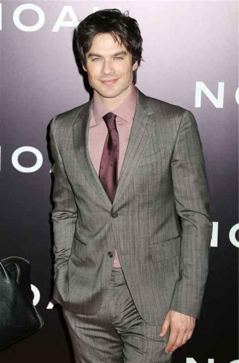 Ian Somerhalder of the CW series &#39;The Vampire Diaries&#39; appears at the premiere of &#39;Noah&#39; in New York on March 26, 2014. He does not appear in the movie, which was directed by Darren Aronofsky. <span class=meta>(Abaca &#47; Startraksphoto.com)</span>