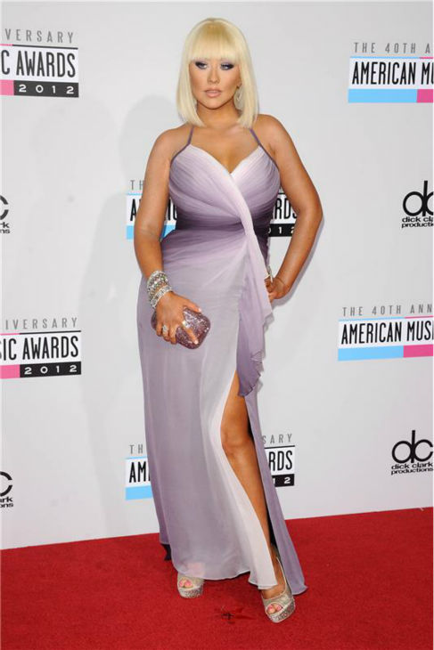 Christina Aguilera walks the red carpet at the 2012 American Music Awards in Los Angeles on Nov. 18, 2012. <span class=meta>(Kyle Rover &#47; Startraksphoto.com)</span>