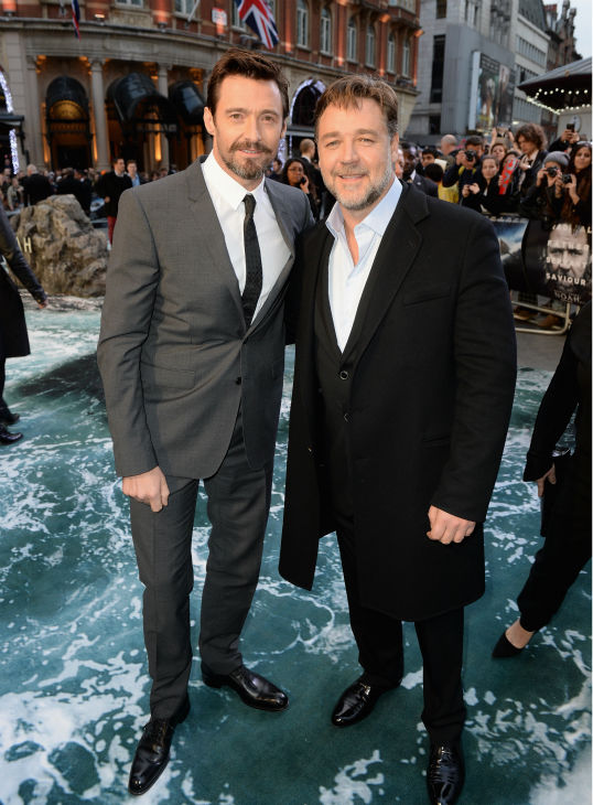 "<div class=""meta image-caption""><div class=""origin-logo origin-image ""><span></span></div><span class=""caption-text"">'Noah' star Russell Crowe and celebrity guest Hugh Jackman appear at the movie's premiere in London on March 31, 2014. The two starred in the 2012 musical film 'Les Miserables.' (Dave J Hogan / Getty Images for Paramount Pictures International)</span></div>"