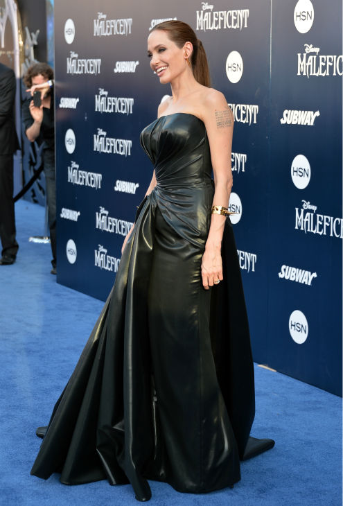 Angelina Jolie attends the premiere of Disney&#39;s &#39;Maleficent&#39; in Hollywood, California on May 28, 2014. <span class=meta>(Alberto E. Rodriguez &#47; Getty Images for Disney)</span>