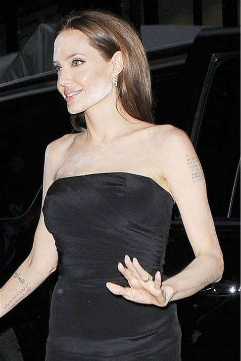 Angelina Jolie arrives at the premiere of the HBO film &#39;The Normal Heart&#39; in New York on May 12, 2014. <span class=meta>(Humberto Carreno &#47; Startraksphoto.com)</span>