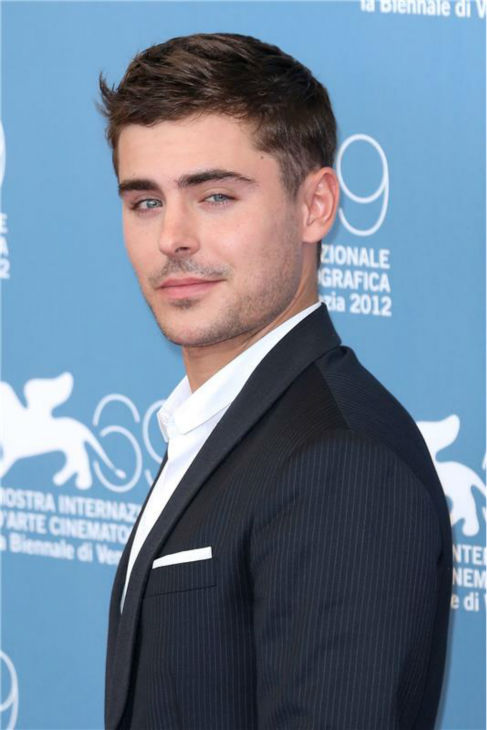 Zac Efron attends a photo call for the movie 'At Any Price' at the 2012 Venice Film Festival on Aug. 31, 2012.