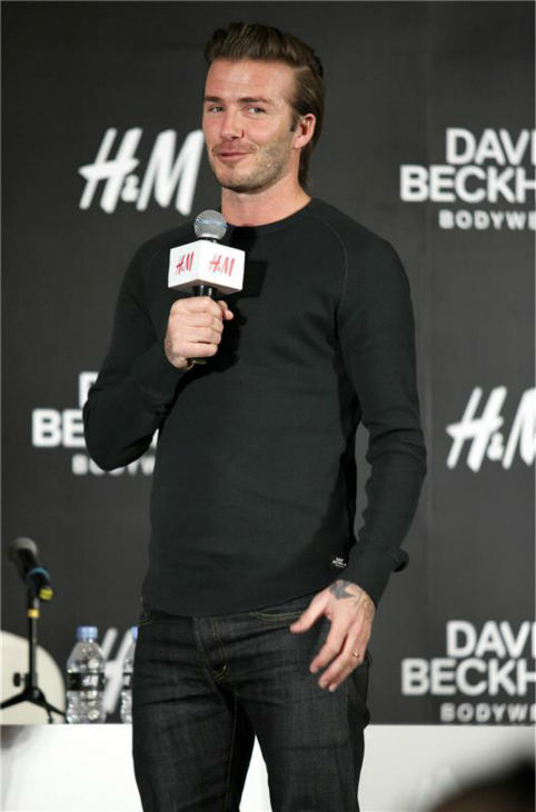 "<div class=""meta ""><span class=""caption-text "">David Beckham appears at an H+M press conference in Shanghai, China on Nov. 21, 2013. The soccer star is a spokesmodel for the brand. (Top Photo / Startraksphoto.com)</span></div>"