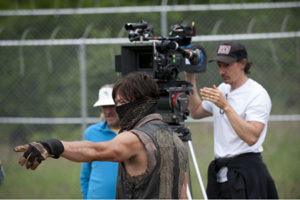 "<div class=""meta ""><span class=""caption-text "">Norman Reedus (Daryl Dixon) appears on the set of AMC's 'The Walking Dead' while filming episode 2 of season 4, titled 'Infected,' which aired on Oct. 20, 2013. (Gene Page / AMC)</span></div>"