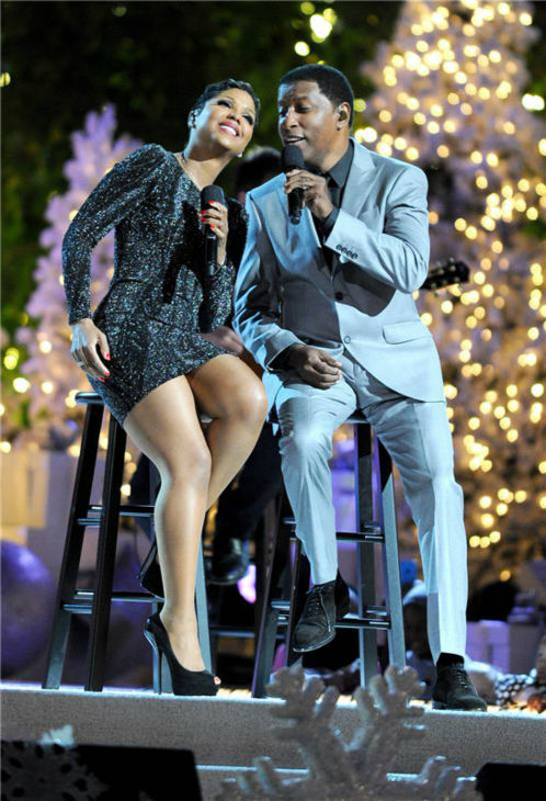 Toni Braxton and Kenneth &#39;Babyface&#39; Edmonds perform at the 11th annual Christmas Tree Lighting Spectacular event at The Grove shopping mall in Los Angeles on Nov. 17, 2013. <span class=meta>(Daniel Robertson &#47; Startraksphoto.com)</span>