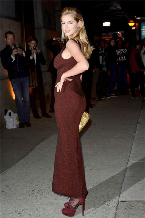 Sports Illustrated supermodel Kate Upton arrives at the 30th annual Night of Stars gala in New York on Oct. 22, 2013.