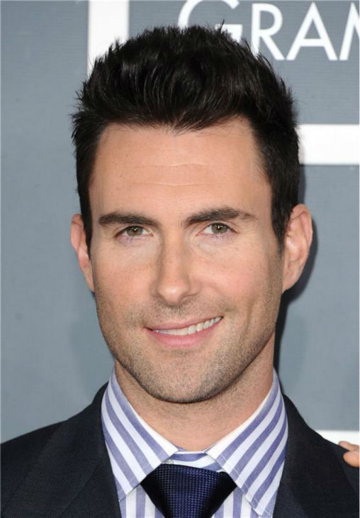 "<div class=""meta ""><span class=""caption-text "">The 'Stripey-At-The-Grammys' stare: Adam Levine attends the 2012 Grammy Awards in Los Angeles on Feb. 12, 2012. (Kyle Rover / Startraksphoto.com)</span></div>"