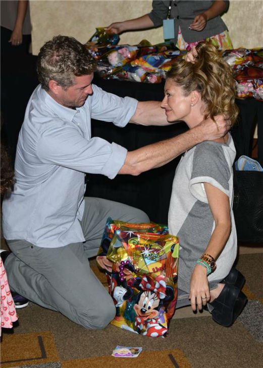 Eric Dane and wife Rebecca Gayheart attend the premiere of the Disney Junior Live On Tour! Pirate and Princess Adventure event in Hollywood, California on Sept. 29, 2013. <span class=meta>(Tony DiMaio &#47; Startraksphoto.com)</span>