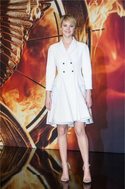 Jennifer Lawrence appears at the premiere of &#39;The Hunger Games: Catching Fire&#39; in Berlin, Germany on Nov. 12, 2013. <span class=meta>(Jochen Zick &#47; Startraksphoto.com)</span>