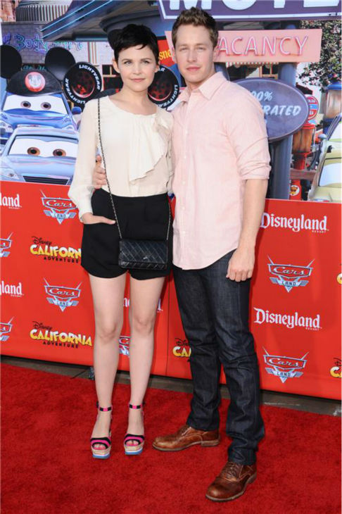 &#39;Once Upon A Time&#39; stars Ginnifer Goodwin and boyfriend Josh Dallas attend the grand opening of the &#39;Cars&#39; ride at Disney&#39;s California Adventure at the Disneyland Resort in Anaheim, California on June 13, 2012. <span class=meta>(Sara De Boer  &#47; Startraksphoto.com)</span>