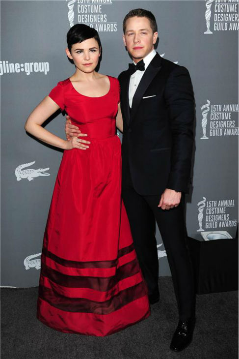 &#39;Once Upon A Time&#39; stars Ginnifer Goodwin and boyfriend Josh Dallas attend the 2013 Costume Designers Guild Awards in Los Angeles on Feb. 19, 2013. <span class=meta>(Michael Williams &#47; Startraksphoto.com)</span>
