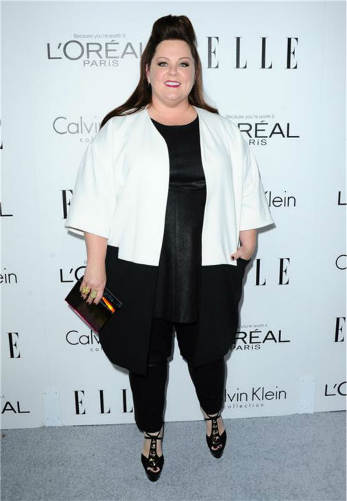 "<div class=""meta image-caption""><div class=""origin-logo origin-image ""><span></span></div><span class=""caption-text"">Melissa McCarthy attends ELLE's 20th Annual Women In Hollywood gala in Beverly Hills, California on Oct. 21, 2013. (Sara De Boer / Startraksphoto.com)</span></div>"
