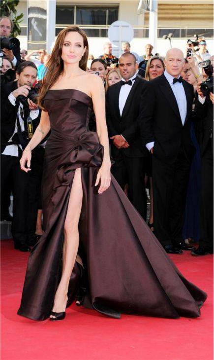 Angelina Jolie attends the premiere of &#39;The Tree of Life,&#39; which stars her partner Brad Pitt&#39; at the Cannes Film Festival in Cannes, France on May 16, 2011. <span class=meta>(Joseph Kerlakian &#47; Startraksphoto.com)</span>