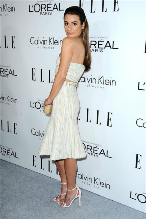 Lea Michele of 'Glee' attends ELLE's 20th Annual Women In Hollywood gala in Beverly Hills, California on Oct. 21, 2013.