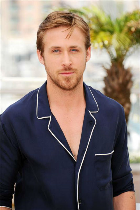 The 'Just-Want-To-Touch-The-Hair' stare: Ryan Gosling appears at a photo call for the movie 'Drive' at the 2011 Cannes Film Festival in Cannes, France on May 20, 2011.