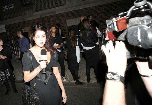Peaches Geldof, a fashion presenter, films a standup piece for GMTV in London on Sept. 15, 2009. Geldof died on April 7, 2014 at age 25. <span class=meta>(Javier Mateo &#47; Startraksphoto.com)</span>