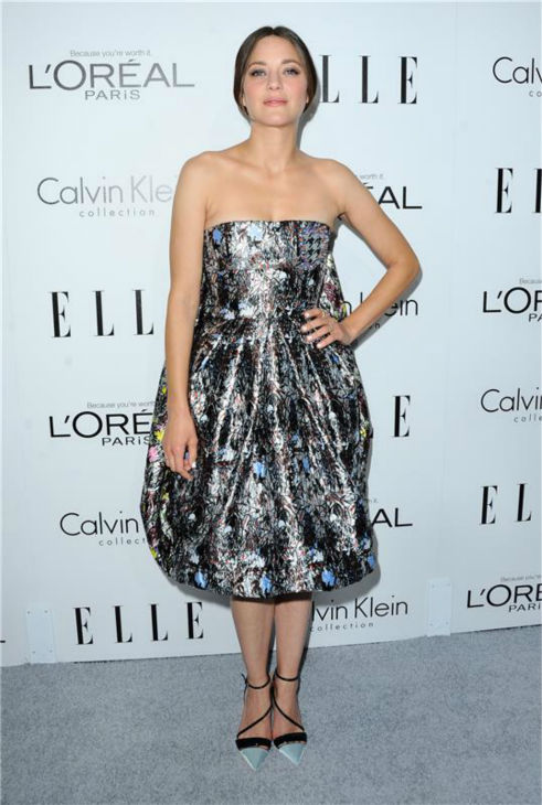 Marion Cotillard attends ELLE's 20th Annual Women In Hollywood gala in Beverly Hills, California on Oct. 21, 2013.