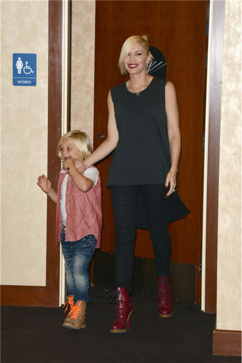 Gwen Stefani and son