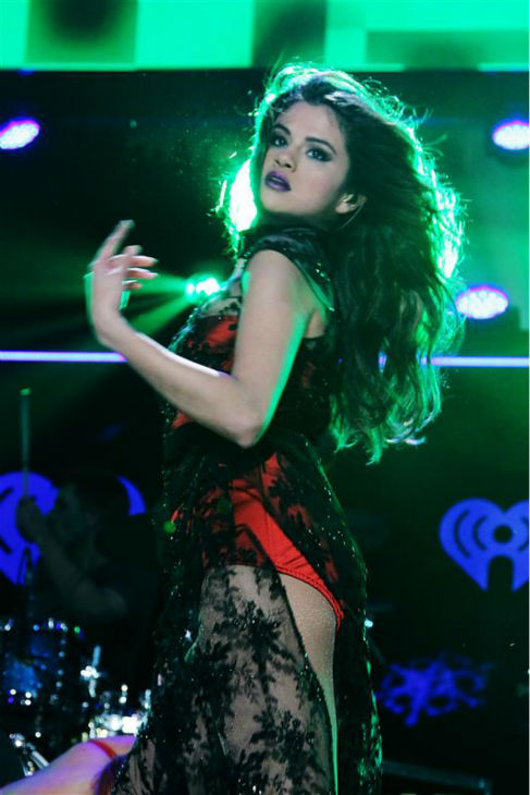 Selena Gomez performs on stage at the 2013 Z100 Jingle Ball on Dec. 13, 2013. <span class=meta>(Amanda Schwab &#47; Startraksphotos.com)</span>