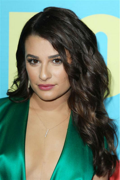 "<div class=""meta ""><span class=""caption-text "">Lea Michele, star of the FOX musical comedy series 'Glee,' appears at the network's 2014 Upfront presentation in New York on May 12, 2014. (Kristina Bumphrey / Startraksphoto.com)</span></div>"