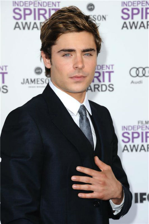 Zac Efron attends the 2012 Independent Spirit Awards in Los Angeles on Feb. 25, 2013. <span class=meta>(Kyle Rover &#47; Startraksphoto.com)</span>