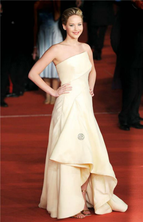 Jennifer Lawrence appears at the premiere of &#39;The Hunger Games: Catching Fire&#39; during the 2013 Rome Film Festival in Rome, Italy on Nov. 14, 2013. <span class=meta>(Eric Vandeville &#47; Startraksphoto.com)</span>