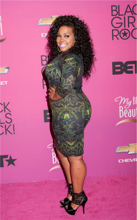 Amber Riley, a 'Glee' star and current competitor on ABC's 'Dancing With The Stars,' appears at BET