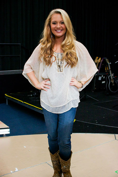 Janelle Arthur appears at a rehearsal for the 'American Idol LIVE!' 2013 summer tour in Burbank, California on July 9, 2013.