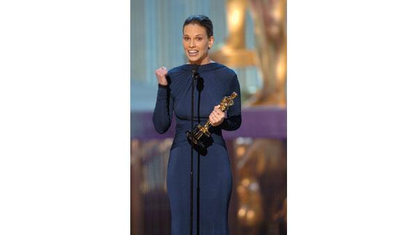 Best Leading Actress at the 2005 Oscars: Hilary Swank for 'Million Dollar Baby'