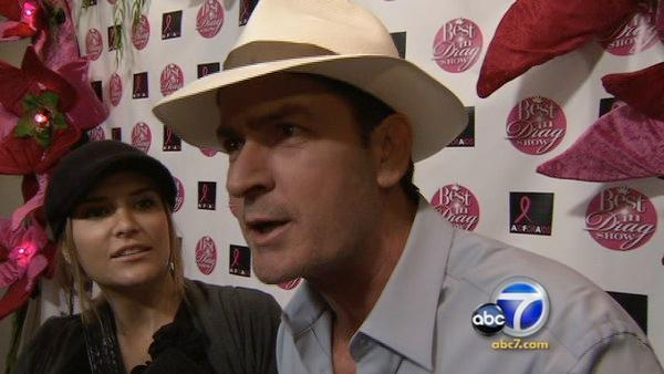 Charlie Sheen and Brooke Mueller talk to OnTheRedCarpet.com at the Best In Drag Show event in Los Angeles in February 2010. - Provided courtesy of KABC