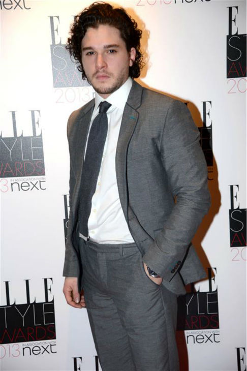The &#39;Jon-Snow-Knows-Nothing-At-The-2013-ELLE-Style-Awards&#39; stare. &#40;Kit Harington appears at the event in London on Feb. 11, 2013.&#41; <span class=meta>(Richard Young &#47; Rex &#47; Startraksphoto.com)</span>