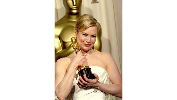 Renee Zellweger earned her first Academy Award in 2004 for her role as Ruby Thewes in the war drama 'Cold Mountain'. Zellweger stared alongside Jude Law and Academy Award winning actress Nicole Kidman in the Anthony Minghella directed film.
