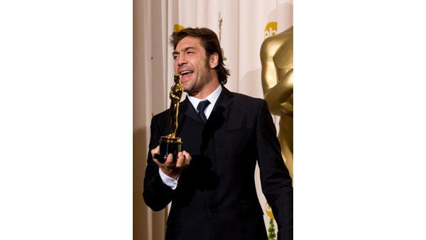 Best Supporting Actor Javier Bardem backstage during the 80th Annual Academy Awards at the Kodak Theatre in Hollywood, CA on Sunday, February 24, 2008.