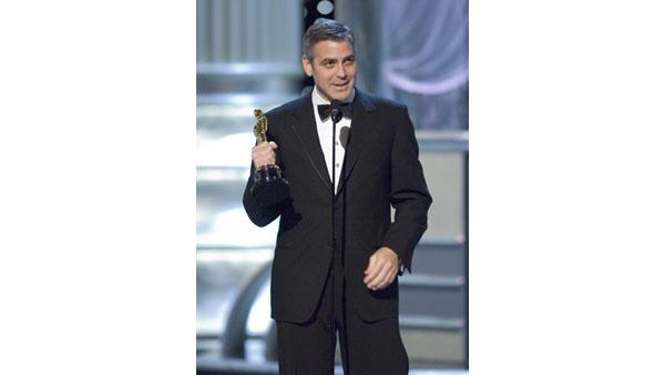 Academy Award winner for Best Supporting Actor George Clooney during the 78th Annual Academy Awards at the Kodak Theatre in Hollywood, CA on Sunday, March 5, 2006.