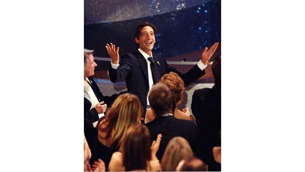 Adrien Brody, Actor in a Leading Role, 'The Pianist'.