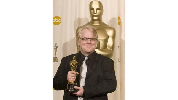 Best Leading Actor Philip Seymour Hoffman backstage during the 78th Annual Academy Awards at the Kodak Theatre in Hollywood, CA on Sunday, March 5, 2006.