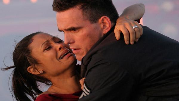 This undated photo provided by Lions Gate Films shows actors Thandie Newton, left, and Matt Dillon in a scene from
