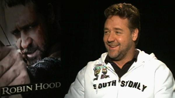 Russell Crowe, star of the film Robin Hood that is released on Friday, hopes to play the famous English icon again. - Provided courtesy of KABC