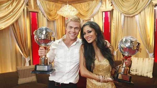 Nicole Scherzinger and Derek Hough were deemed the winners of 'Dancing With the Stars' season 10 on Tuesday, May 25, 2010.
