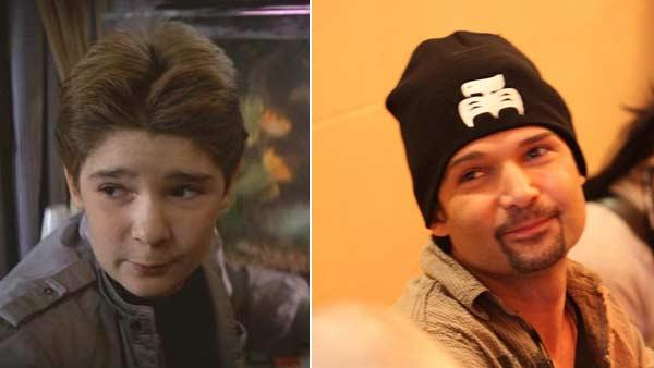 Corey Feldman in a scene from the 1986 movie 'Stand by Me.' / Corey Feldman at a 2010 'Goonies' reunion event.