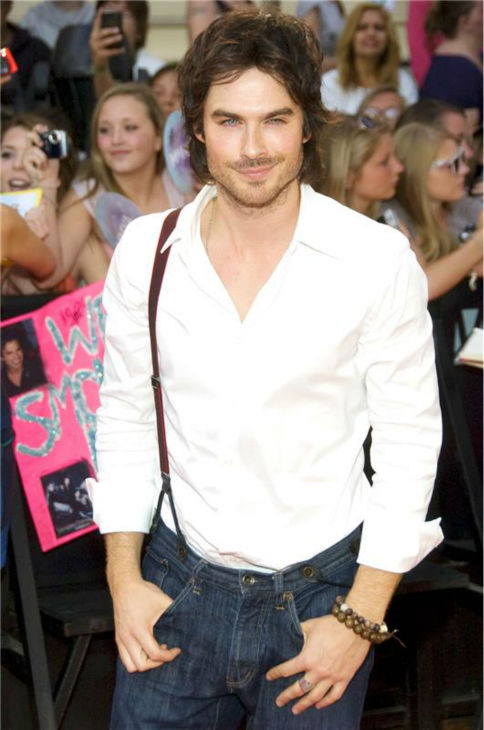 The &#39;Suspend-Your-Disbelief- stare: Ian Somerhalder appears at the 2011 Much Music Video Awards in Toronto on June 19, 2011. <span class=meta>(Christian Lapid &#47; Startraksphoto.com)</span>