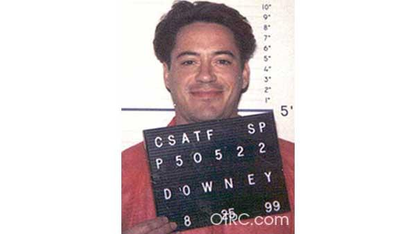 Robert Downey Jr.  arrest photo