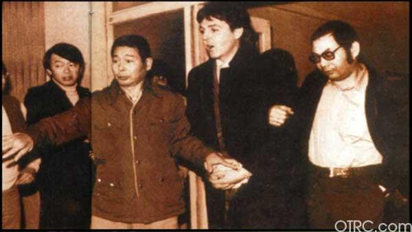 Paul McCartney following his release from a Japanese prison