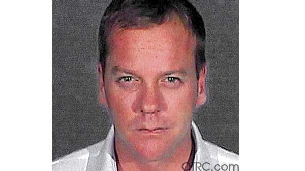 Keifer Sutherland arrest photo