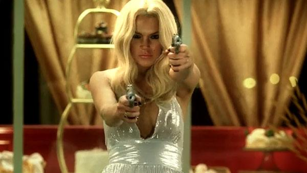 Lindsay Lohan dons Marilyn Monroes look, opens fire at paparazzi in ShamWow! Guys film Underground Comedy 2010. - Provided courtesy of Photo by Square One Entertainment