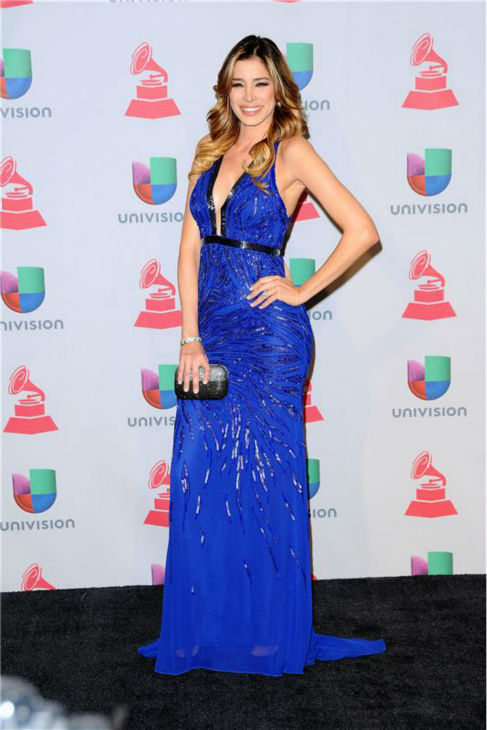 Aida Yespica arrives at the 2013 Latin Grammy Awards at the Mandalay Bay Hotel