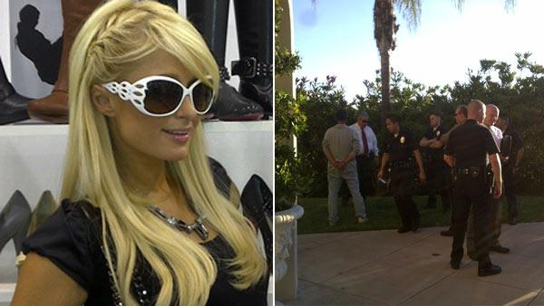 Paris Hilton Tweeted this photo of her in a shoe store on August 18, 2010 / Paris Hilton Tweeted this photo on August 24, 2010, saying her house had been broken into. - Provided courtesy of twitter.com/parishilton