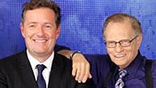 Piers Morgan and Larry King pose in an undated photo posted on CNN.com on Sept. 8, 2010. - Provided courtesy of (Photo courtesy of Mathieu Young / CNN.com